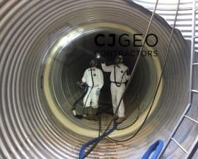 8 foot diameter CMP joint sealing